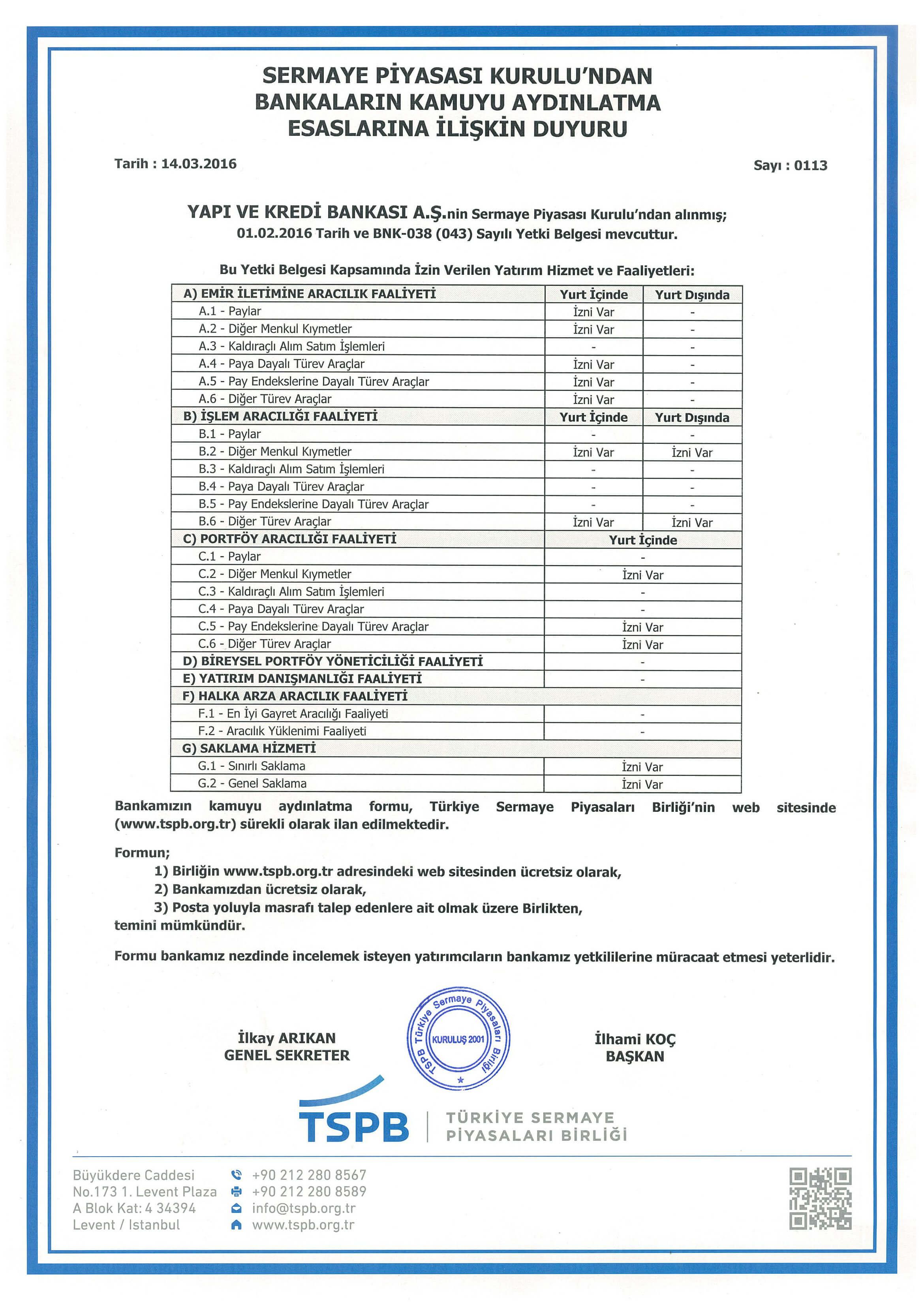 Yapı Kredi Bankası Çalışma Saatleri 2018
